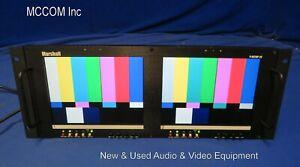 "Marshall V-R82DP-2C Dual 8"" Analog LCD Rackmount Monitor w/ power supply"