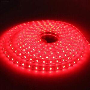 STRISCIA LUCE A LED ROSSA ROSSO SMD 5050 STRIP 5 METRI 300 LED IMPERMEABILE