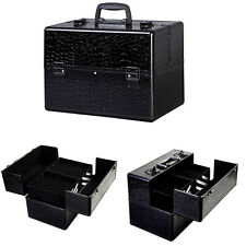 "Pro 14""x9""x10""Aluminum Makeup Beauty Train Case Jewelry Box Cosmetic Organizer"