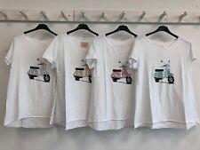 Damen Kurzarmshirt T-Shirt Shirts Roller Pailletten Glitzer 36 38 40 gold silber