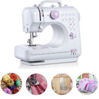 New Mini Multi-Functional Sewing Machine w/2 Speeds Double Thread For Beginners