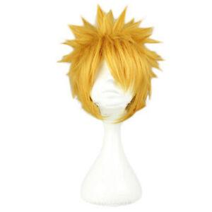 "30cm/11.8"" Anime Character Uzumaki Naruto Synthetic Yellow Hair Costume Cosp.ji"