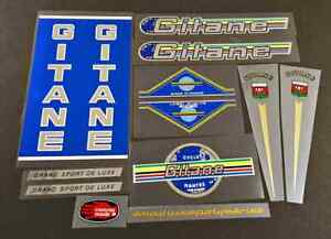 Gitane Grand Sport Bicycle Chrome Decal Set - Blue (sku Gita-S105)