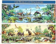 """1996 Scott# 3136 """"The World of Dinosaurs""""  32 cent Mint USPS Souvenir Sheet MNH"""
