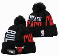 NBA Chicago Bulls Basketball Beanie Cap Knit Warm Winter Hat Fleece lined