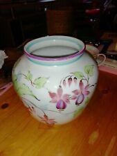 Bavaria schumann Vase weiß Blumen  Porzellan handmalerei L. Schlitz, Top Zustand