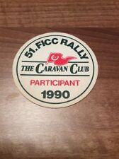 Rare Caravan Club FICC 51st International Rally 1990 Souvenir Beer Mat Coaster