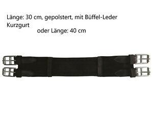 30 cm 40 cm Luxe gepolsterter Sattelgurt Kurzgurt Dressur Gurt f. Pad ROSTFREI A