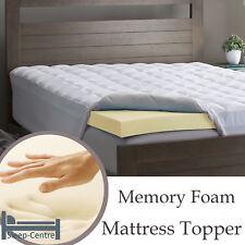 Memory Foam Mattress Topper 2FT 6 Small Single 75cm x 190cm 1 Inch Depth