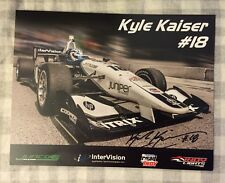 Kyle Kaiser 2016 Indy Lights Indianapolis 500 Promo hero Card Autographed