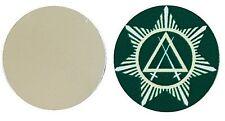 FREEMASON MASONIC  COUNCIL OF KNIGHT METAL GOLF BALL MARKER DISC 25MM DIAMETER