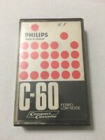 PHILIPS C-60 Ferro Low Noise cassette tape, normal position Made In Holland Used