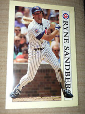 1991 Sport Art Chicago Cubs Great RYNE SANDBERG VG / EX Oversized Baseball Card