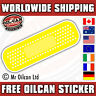 yellow euro plaster sticker / JDM eurolook dub vag drifting, mr oilcan 150mm