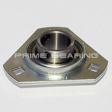 "New!!  SBPFT205-16  1""  Pressed Steel Triangle 3-Bolt Flange"
