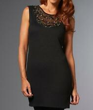 IMAN Global Chic Embellished Necklace Dress $89.90 BLACK NEW WITH TAGS XS