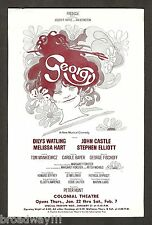 "Carole Bayer (Sager) ""GEORGY"" Dilys Watling / Melissa Hart 1970 Tryout Flyer"