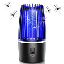 ZANZARIERA Elettrica RICARICABILE usb Anti Zanzare Mosche Lampada UV LED