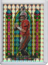 New Listing2020 Panini Mosaic Tom Brady Stained Glass Prizm Silver Insert Sp Case Hit