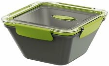 Emsa Bento Box Lunchbox Food Container Micro Wave Pot Square 1,5L Grey/Green