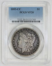1893 CC Morgan Silver Dollar VF 20 PCGS (#1745)