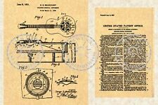 NATIONAL DUOLIAN TRIOLIAN Resonator Guitar Patent #747