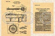 NATIONAL DUOLIAN TRIOLIAN Resonator Guitar Patent #747