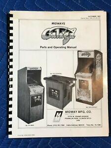 Original Midway Galaga Video Arcade Game Parts Operating Manual Schematics 1981