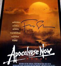Francis Ford Coppola Signed 'Apocalypse Now: Redux' 12X18 Movie Poster Photo Coa