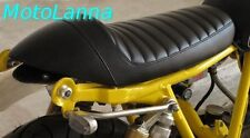 Seat Cafe Racer Yamaha SR500 SR400 XS650 XV CB Cafe Racer Black w/ White Stitch