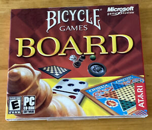 Bicycle Board Games PC Game - Rare Microsoft Game published by Atari for Windows