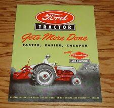 1948-1952 Ford Tractor w Dearborn Farm Equipment Sales Brochure 48 49 50 51 52