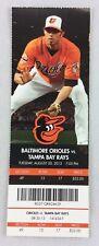 MLB 2013 08/20 Tampa Bay Rays at Baltimore Orioles Ticket -Alex Cobb WP