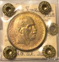 HN REGNO D'ITALIA Vittorio Emanuele III 1928 Buono 2 lire qFDC R   sp242