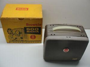 VINTAGE KODAK BROWNIE 500 MOVIE PROJECTOR 8mm MODEL 189 W/ ORIGINAL BOX