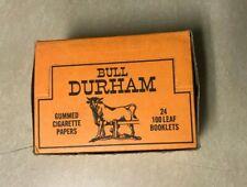 Bull Durham COMPLETE BOX Cigarette Rolling Paper Rare Original Vintage Find NOS