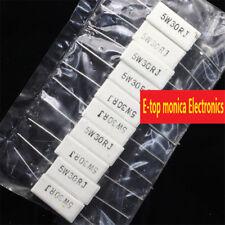 10pcs Brand New 5% 5w 30 ohm 30RJ Cement Resistor Flame Resistance