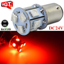 10x24V 9-LED BAY15D RED 1157 STOP/TAIL GLOBE Truck/Trailer/Automotive Light Bulb