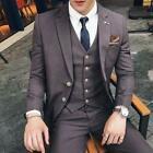 Men's Business Waistcoat Coat pants Suits Wedding Dress Formal One Button Slim