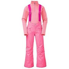 NWT GIRLS THE NORTH FACE INSULATED PINK SNOWQUEST SUSPENDER SNOW PANTS XL 18
