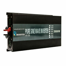 Pure Sine Wave Inverter 3000W DC to AC Power Inverter 24V to 120V LED Display