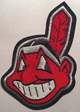 "Cleveland Indians patch Chief Wahoo jersey sleeve patch  MLB patch 4.5"" tall"