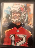 2020 Tom Brady Tampa Bay Buccaneers 15/25 Art ACEO Sketch Print Card By:Q