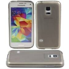 GREY SAMSUNG GALAXY S5 MINI SOFT GEL TPU SILICONE RUBBER CASE: FROSTED BACK M79