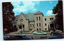 Friends Church Vintage Classic Cars on Street Wilmington Ohio Postcard A81