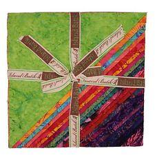 "Island Batik STACKS - Red Tide - (42) 10""  Fabric Squares Layer Cake"