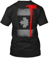 Firefighter Flag Hanes Tagless Tee T-Shirt