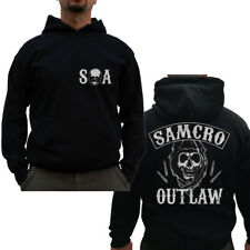 Officially Licensed Sons of Anarchy- SAMCRO Outlaw Big&Tall 3XL, 4XL, 5XL Hoodie