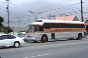 Orange Belt Stages GM PD 4905 Bus Kodachrome original Kodak Slide