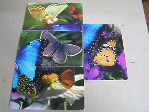 4 x SOUTH AFRICA used chipcard  Butterflies all different